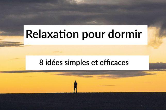 relaxation dormir