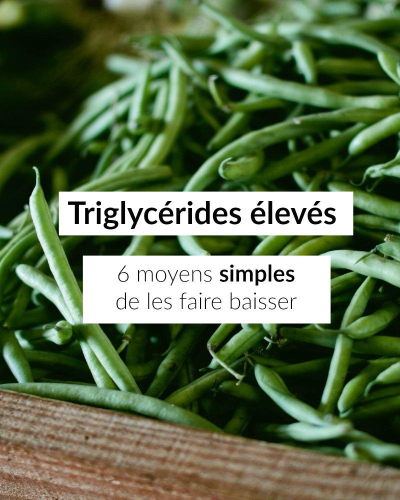 Regime triglycerides eleves