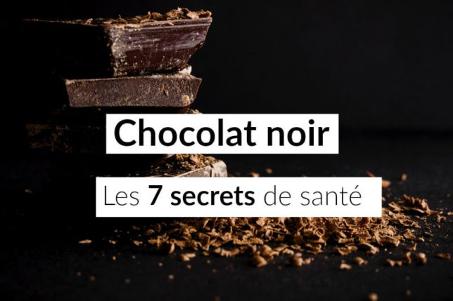 chocolat noir calories